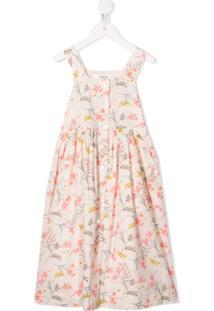 Bonpoint Vestido Com Estampa Floral - Rosa