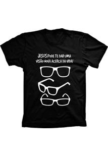 Camiseta Baby Look Lu Geek Visão Da Vida Preto