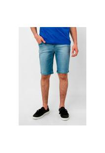 Bermuda Jeans Lee Azul Claro