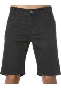 Bermuda Jeans Diferenciada Vlcs Masculina - Masculino-Preto