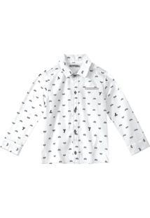 Camisa Tigor T. Tigre Beb㪠102074050080 Branco - Branco - Menino - Dafiti