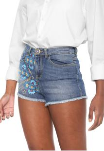 Short Jeans Desigual Ethnic Azul