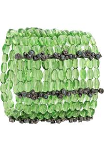 Camila Klein Bracelete Murano Cristais - Verde