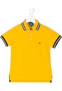 Fay Kids Camisa Polo Com Contraste - Amarelo