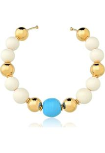 Colar Chocker Le Diamond Murano Azul