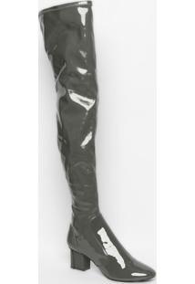 Bota Over The Knee Gabi Melange - Cinza - Salto: 6,5Le Lis Blanc