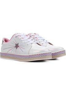 Sapato Infantil Molekinha Bordado Feminino - Feminino-Branco