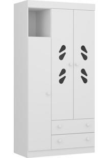 Guarda-Roupa New Sorvete Seco 3 Pts E 2 Gav. Branco 2664.156 Multimóveis