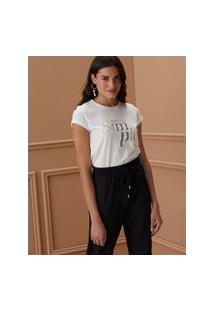Amaro Feminino T-Shirt Keep It Simple, Off-White