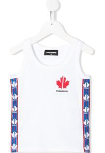 Dsquared2 Kids Regata Com Logo - Branco