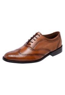 Sapato Social Youth Oxford Cromo Argentino Caramelo