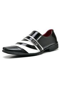 Sapato Social Com Verniz Com Relógio Dubuy 632Mr Preto