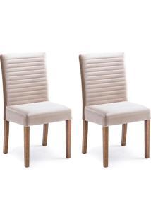 Conjunto Com 2 Cadeiras De Jantar Alba Caramelo E Imbuia