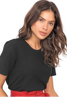 Camiseta Lança Perfume Recortes Preta