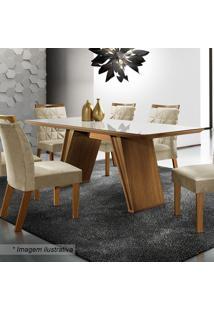 Conjunto De Mesa & Cadeiras Atena- Castanho Fosco & Animlj Móveis