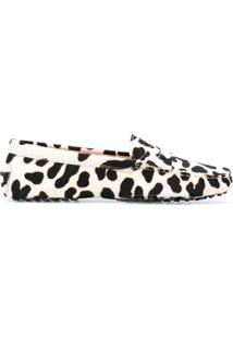 Tod'S Slipper Animal Print - Preto
