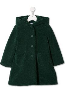 Il Gufo Single Breasted Coat - Verde