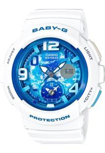 Relógio Feminino Casio G-Shock Baby-G Analógico Digital Bga-190Gl-7Bdr Branco