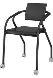 Cadeira 1713 Cor Preto Com Napa Preto - 27687 Sun House
