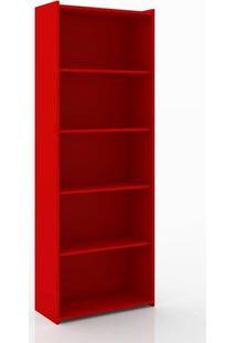 Estante Biblioteca 700X1820X300 Mm Vermelha