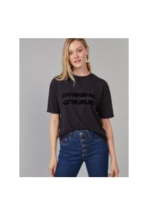 Amaro Feminino T-Shirt Keep On Smiling, Chumbo