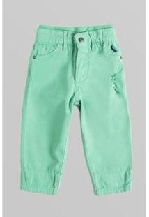 Calça Bb Color Zipper Bolso Reserva Mini Masculina - Masculino-Verde