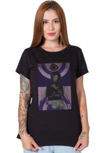 Camiseta Jimi Hendrix Collage Preta Stoned - Preto - Feminino - Algodã£O - Dafiti