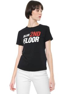 Camiseta Ellus 2Nd Floor Future Preta