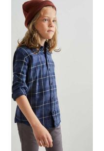 Camisa Mini Pf Folk Reserva Mini Azul