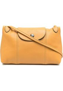 Longchamp Bolsa Transversal Le Pliage Cuir - Amarelo
