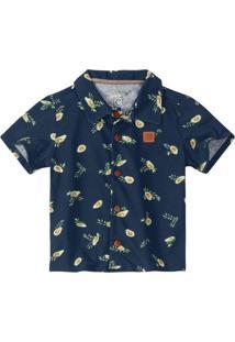 Camisa Azul Avocado Menino