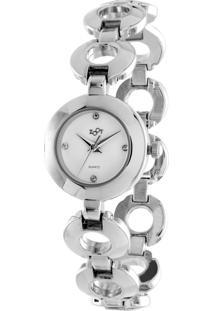 Relógio Zoot Casual Analógico Versalles Prata E Branco
