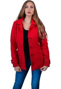Casaco Baiki Badhai Trench Coat Vermelho 3a6eeca84adcd