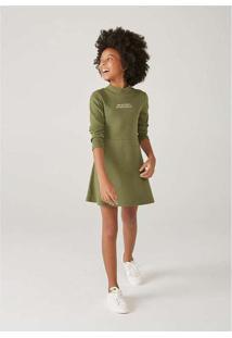 Vestido Infantil Menina Com Elastano Verde