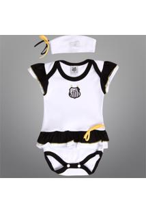 Body Santos Vestido C/ Tiara Infantil - Feminino