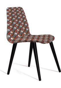 Cadeira De Jantar Eames Palito Preta E Cinza