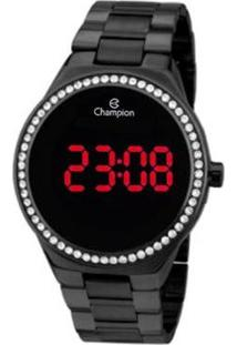Relógio Champion Digital Ch40151D Feminino - Feminino-Preto