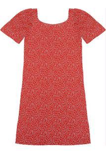 Vestido Mini Corações Vermelho
