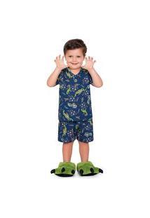 Pijama Infantil Bebê Dino Astronauta Fakini