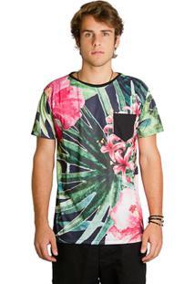 T-Shirt Wosmock Floral - Feminino-Verde