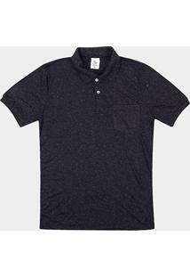Camisa Polo Tigs Malha Mesclada Frisos Bolso Masculina - Masculino