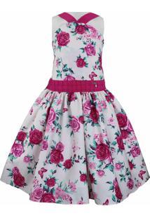 Vestido Katitus Teen Florido Flamingo