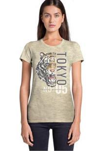 Camiseta Joss Tokyo Feminina - Feminino-Bege