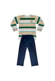 Pijama Look Jeans Menino Longo Verde