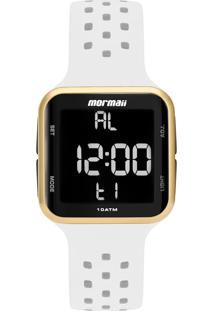 Relógio Digital Mormaii Digi Dourado Mo6600Ad/8B Branco