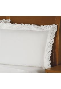 Fronha Ellegance Algodão Branca 50X150