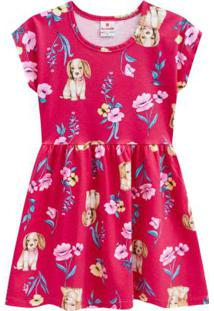 Vestido Infantil Menina Moda Brandili Rosa Médio