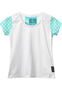 Camiseta Baby Look Feminina Algodão Estampa Conforto Moda - Feminino-Branco