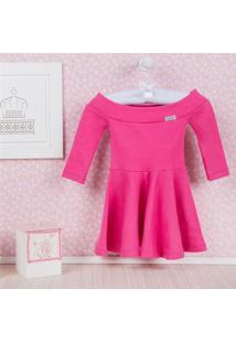 Vestido Bebê Manga Longa Pink 12 A 15 Meses Grão De Gente Rosa