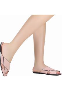Sandália Rasteira Zariff Bico Quadrado